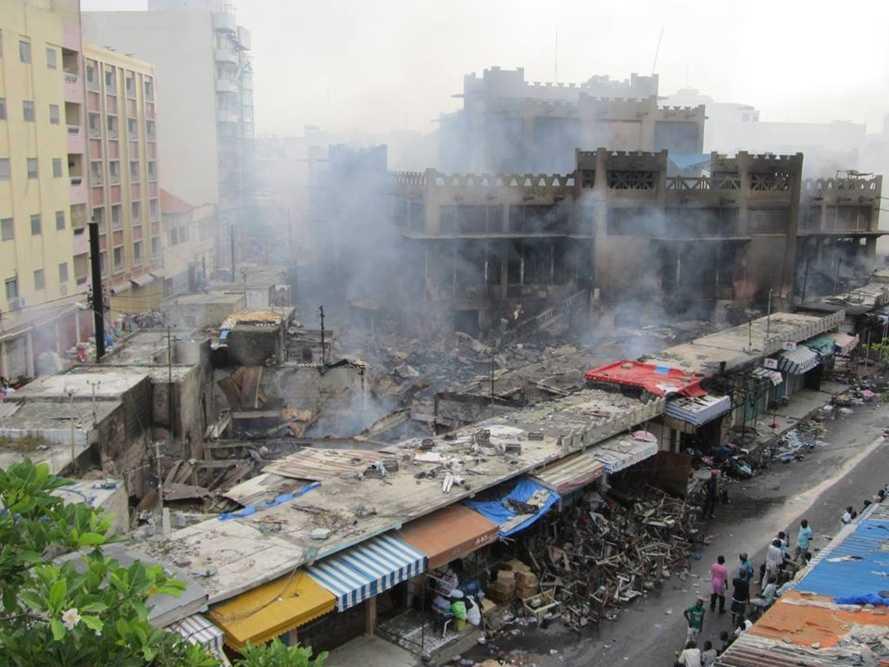 incendie au marché petersen