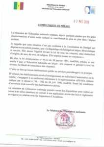 Mamadou Talla comunique 03 49 2019 09 49 38