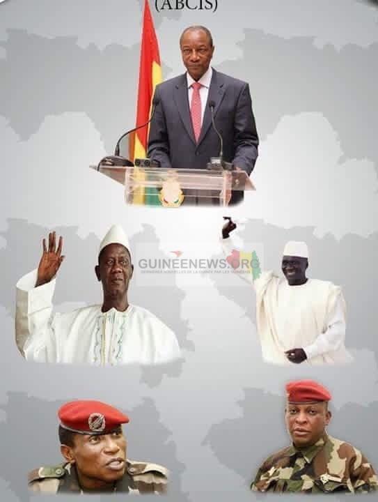 les présidents de la Guinée